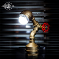 Water  Pipe VIntage Industrial Table Lamp For Bedroom In America Country Loft  Table Lamps,Abajur Lamparas Luminairas De Mesa