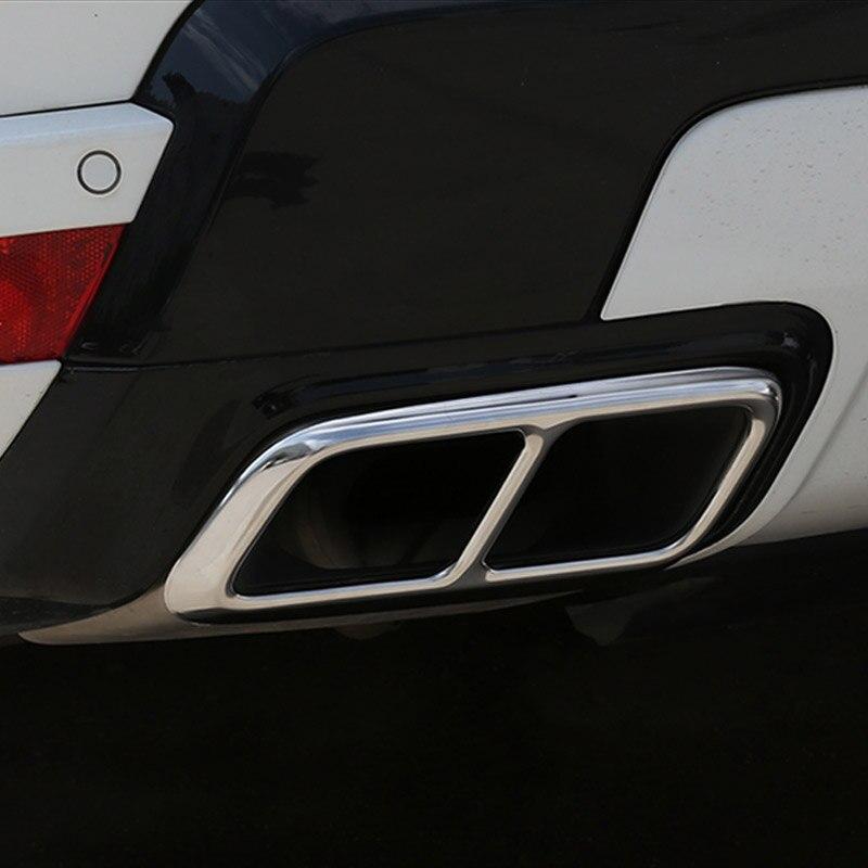 2 pçs brilhante prata cromo aço inoxidável tubo de escape capa guarnição para range rover sport 2018 2019 2020 ano acessórios