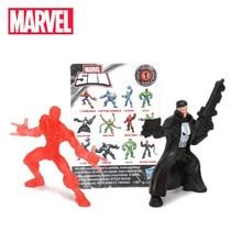 1 Buah 4-5 Cm Marvel Mainan Tas Buta 500 Koleksi Mini Figure Avengers Spiderman Thanos Ironman Hulk PVC action Figure Model