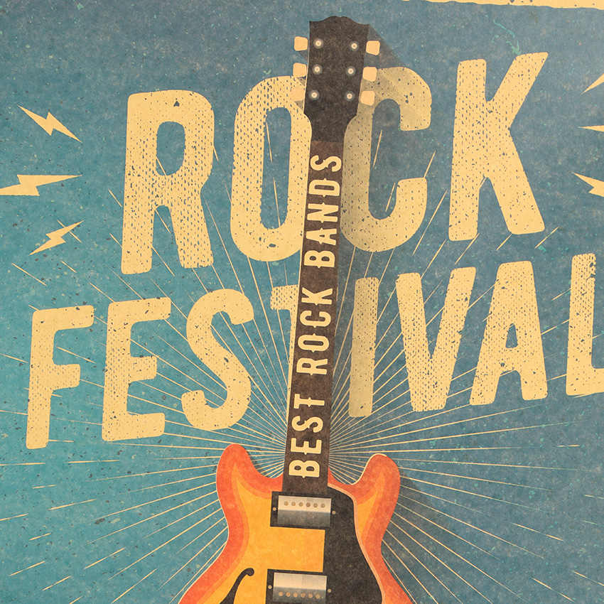 Cravate LER musique guitare C Style affiche chambre mur affiche décor maison moderne Rock mur autocollant pour décor 47X36cm