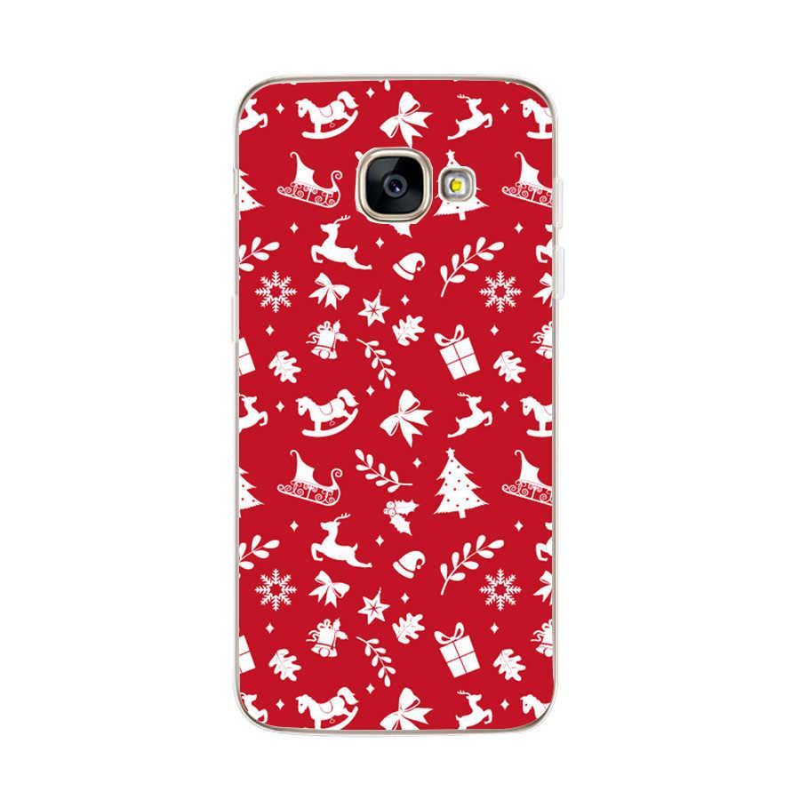 Feliz Navidad Coque Capas para Samsung Galaxy A3 A5 2017 A8 más A7 A5 2018 S8 S9 Plus de Navidad casos para Samsung J5 2017