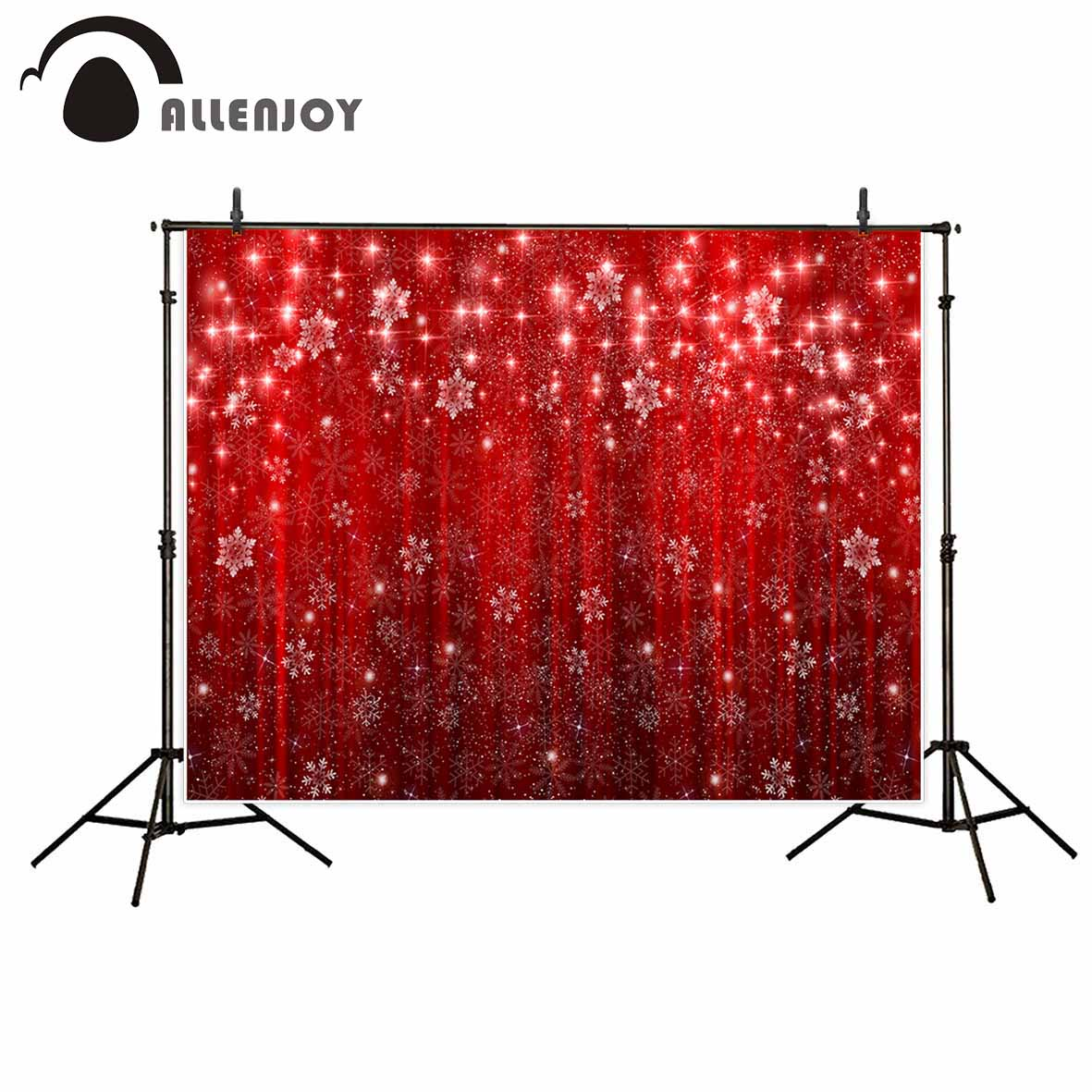 Allenjoy backdrop for photo studio red christmas snowflack glitter bokeh background photocall customize for kids allenjoy photography background blue red abstract christmas background golden stars glitter bokeh lights backdrop photo studio