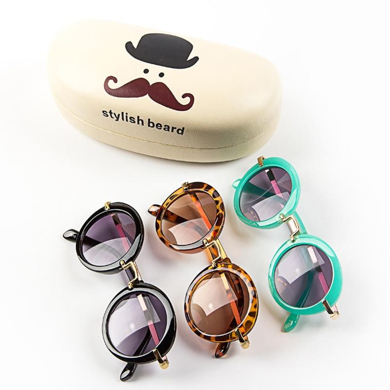 DRESSUUP ბავშვის ბიჭები გოგონები საბავშვო სათვალეები რთველი მრგვალი მზის სათვალეები UV 400 ბავშვთა სათვალე Oculos De Sol შავგვრემანი