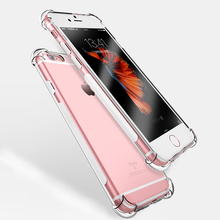 Ultra Thin Soft TPU Case For iPhone 7 7Plus 8 8Plus X Transparent Case For iPhone 5 5S SE 6 6s 6Plus 6sPlus Shatterproof case(China)
