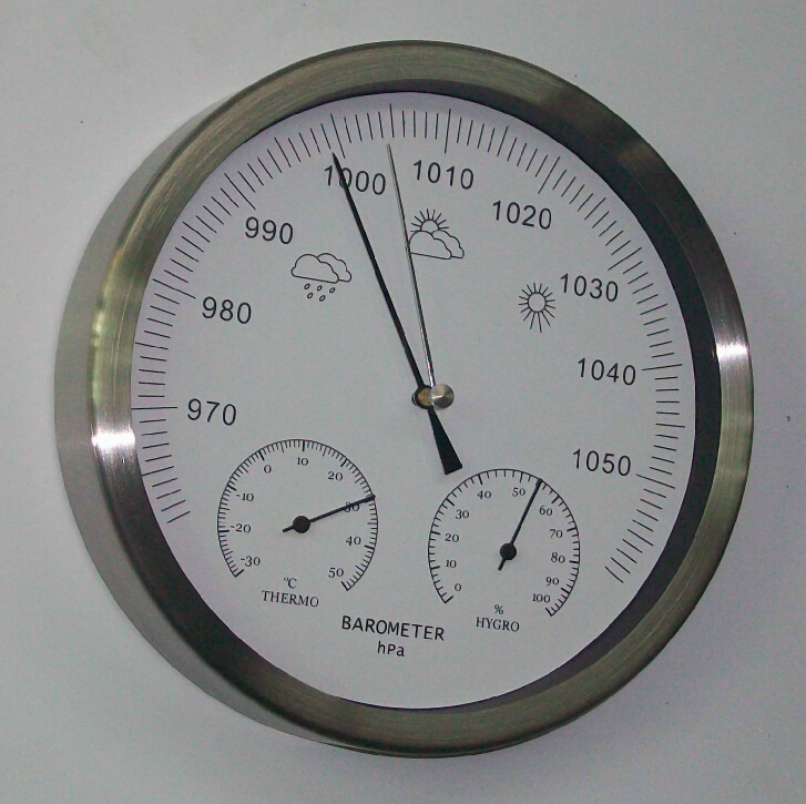 Mechanical  Aneroid Barometer Hygrometer Thermometer 200mm(8inchs) diameter  weather station home decoration gift : 91lifestyle