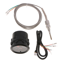 1 Set Car Auto 12V 52mm/2 Universal LED Exhaust Gas Temp Gauge Ext Meter EGT With Sensor & Holder 2.05x2.17 Inch