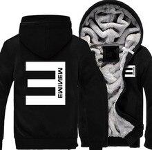 Caliente Casual chaqueta marca hombres mujeres hip-hop Eminem Logo Zipper  Jacket sudaderas Thicken Hoodie Coat ropa Casual b07d041f961