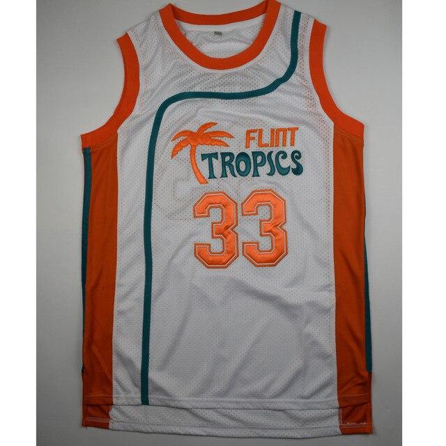 0edb74da948d TIM VAN STEENBERGEB Jackie Moon 33 Flint Basketball Jersey All Sewn ...