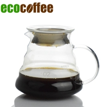 1 STÜCK hochwertigen Kaffee Server Glas Kaffeekanne 360 Ml 580 ML 780 ML Kaffeekanne