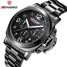 Relogio Masculino Male Casual Watch Men Watches LONGBO Brand Luxury Date Waterproof Chronograph Military Sport Wrist
