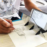 Tracking Projection Optical Drawing Board Sketch Mirror Facing Copy Table Reflection Light Image Board With Mobile Phone Bracket