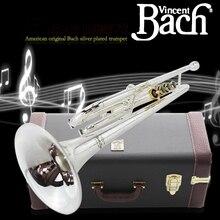 Настоящий Американский Bach B плоская труба музыкальный инструмент LR-197GS один динамик для начинающих