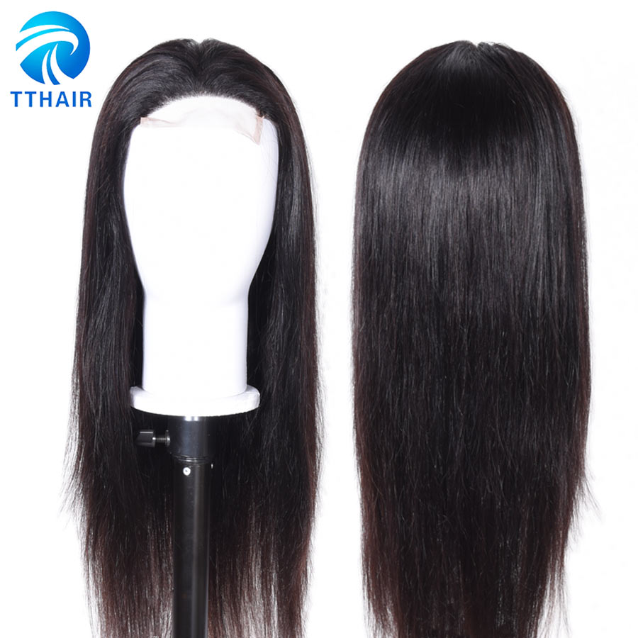 30 Inch Wig Brazilian 4x4 Closure Wig Lace Human Hair Wigs Long Straight Remy Free Part Lace Front Wigs For Woman Pre Plucked