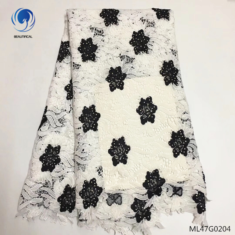 BEAUTIFICAL guipure cord laces fabrics high quality lace fabrics water soluble laces fabric for women dress 5yards/lot ML47G02BEAUTIFICAL guipure cord laces fabrics high quality lace fabrics water soluble laces fabric for women dress 5yards/lot ML47G02