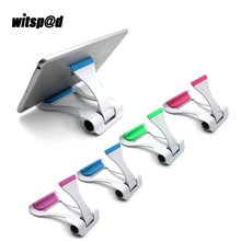Witsp@d Adjustable Transportable Common Foldable Desktop Stand Mount Holder Appropriate For iPad Tablets PC Computer systems and Telephone