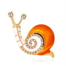 Cute Enamel Insect Snail Shape Brooches Gold Color Metal Crystal Dress Brooch Pin for Women Wedding Party Brooch Jewelry Gifts недорго, оригинальная цена