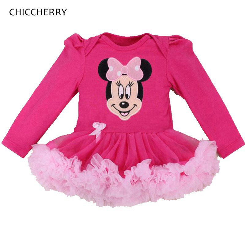 Minnie Petti Lace Rompers Tutu Dresses For Toddlers Infant Party Dress Girls Birthday Outfits Newborn Baby Girl Romper Clothes new baby girl clothing sets infant easter romper tutu dress 2pcs set black girls rompers first birthday costumes festival sets