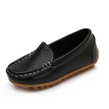 2017 new children shoes fashion slip on leather boy and girl kids sneakers flats casyal loafer mocassin kid