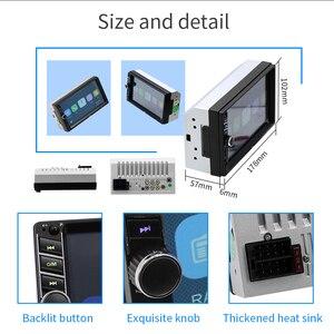 """Image 3 - 7 """"12 V HD écran tactile Bluetooth voiture MP4 MP5 lecteur vidéo Audio FM Radio caméra de recul téléphone connecter voiture Displayer mains libres"""