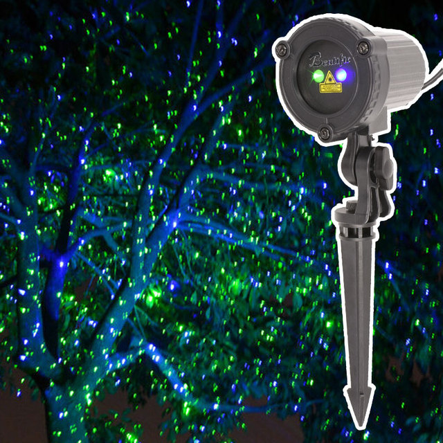 Christmas Lights Outdoor Green Blue Laser Fairy Light Projector Waterproof Star Projection Shower New Year Decorations For Home