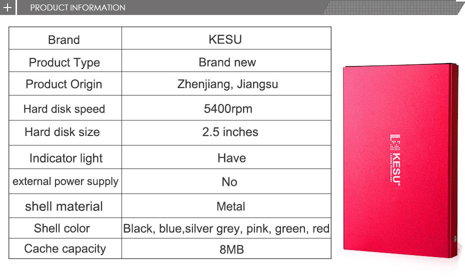 KESU. Disco duro externo 2