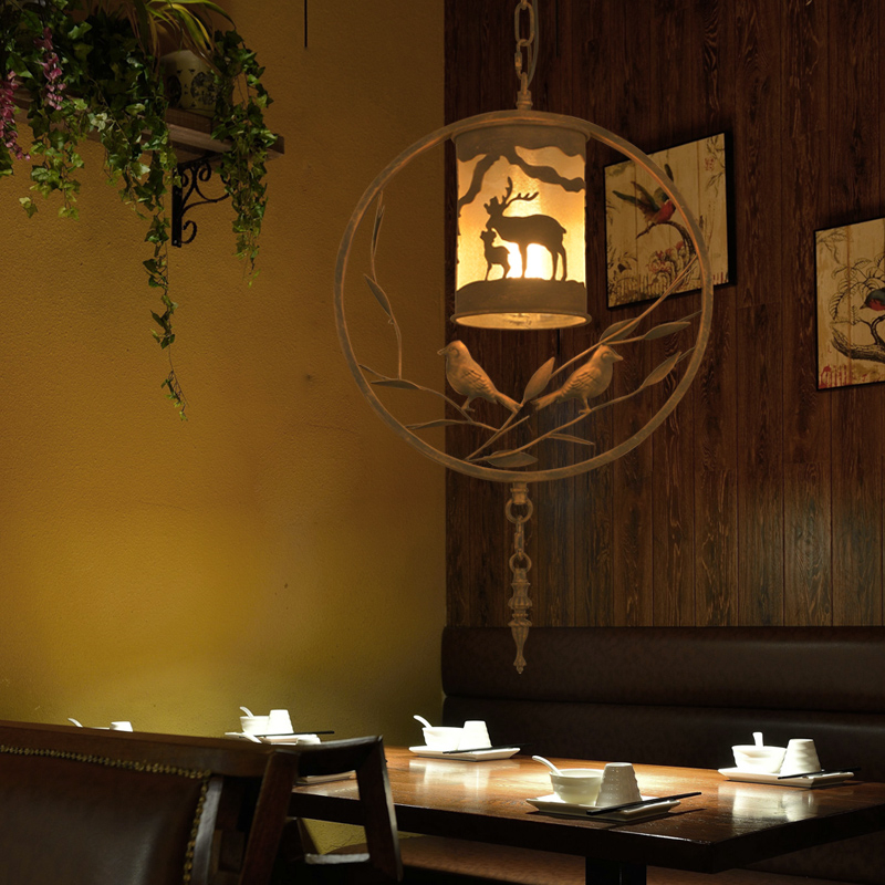 Nordic Ретро Bird Cage ресторан железа люстра творческий минималистский кафе бар счетчик Спальня исследование птицы лампы Бесплатная доставка