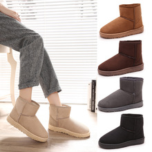 Warm Snow Boots Casual Flats Leisure Ankle Boot Solid Comfortable Round Toe Women Shoes Ladies Winter