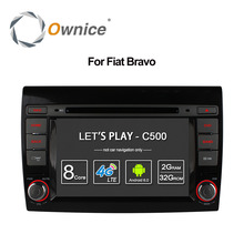 Ownice C500 Android 6.0 Octa Core for Fiat Bravo 2007-2012 Car DVD Player Radio with GPS Bluetooth 4G 1024*600 2GB RAM 32GB ROM