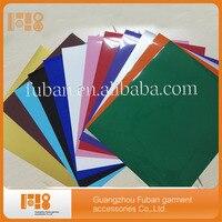 קוריאה PU איכות 12 צבעים 10 Inch * 12 Inch גיליונות נייר ויניל העברת חום עבור חולצת טריקו
