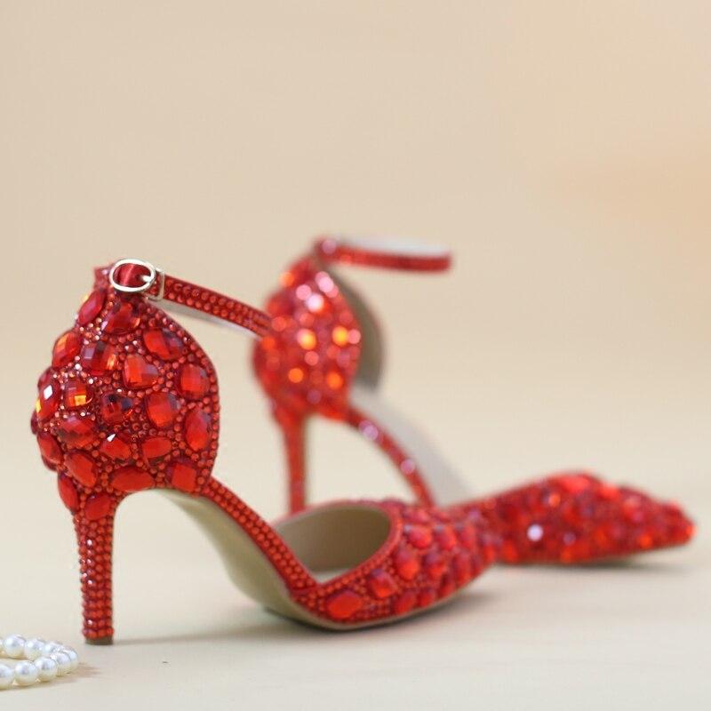Blanc 2 1 Cristal Bracelet Rose 4 Parti Talons Mariage Mariée D'été Chaussures De Sandales 3 wqa7PZxI