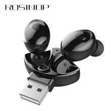 Rosinop Bluetooth Earphone TWS Earbuds Wireless Earphones Handsfree Earpiece For iphone xiaomi Original auriculares USB Charger
