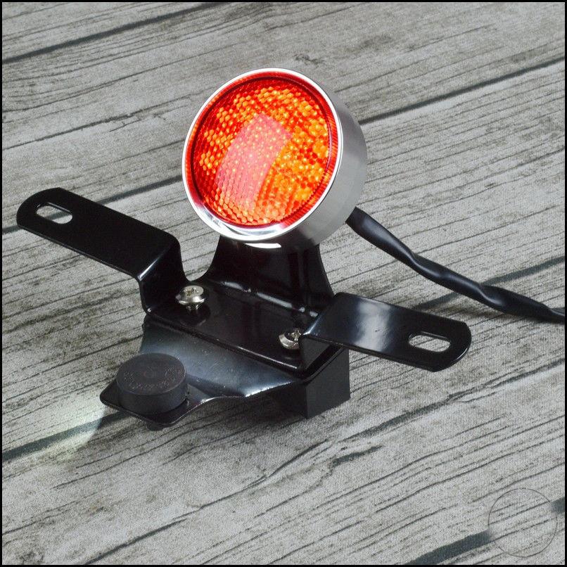 Cafe Rear Tail Brake Light Taillight Lamp Chrome for Suzuki GN125 GN 125 CNC rear light
