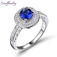Round 5 5x5 5mm Natural Diamond Tanzanite Engagement Ring Jewelry Sets 14kt White Gold WR13