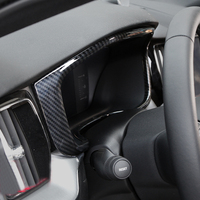 Carbon Fiber Style Inner Dashboard Console Instrument Display Cover Trim 1pcs For Volvo XC60 2018 (Only Fit For Left Hand Drive)