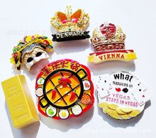 (5 pieces a lot )Danish Crown Las Vegas New Orleans Mask Chongqing Hot Pot Fridge Magnet
