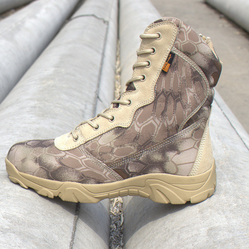 2019 Men military boots camouflage tactical combat boots  3