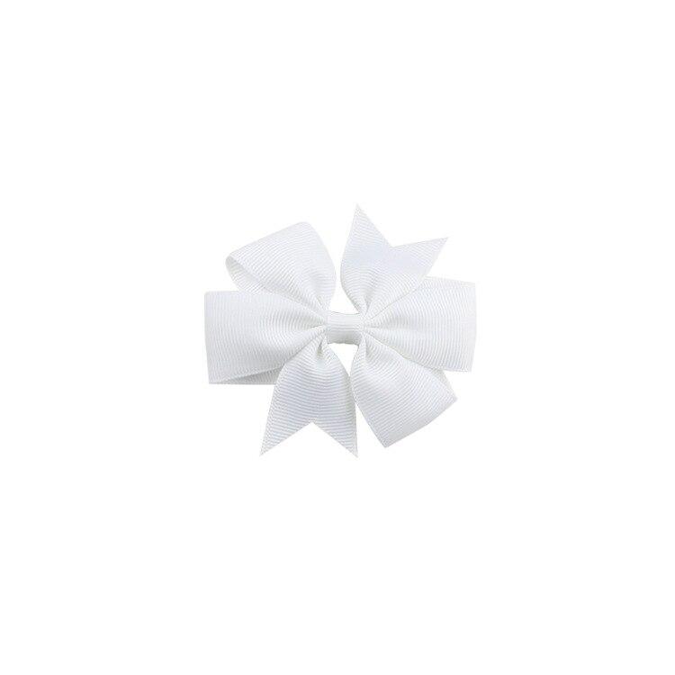 40 цветов сплошная корсажная лента банты заколки шпилька девушка бант для волос, бутик заколки для волос аксессуары для волос - Color: a09 White