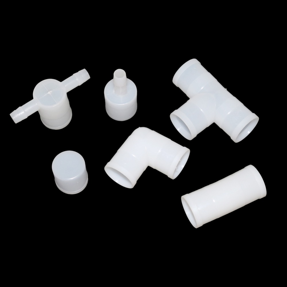 25mm Poultry Drinking Accessories Tee 6 Styles Rabbit Quail Pigeon Parrot Bird Drinking Fountain Pipe Connector Plastic Pipe