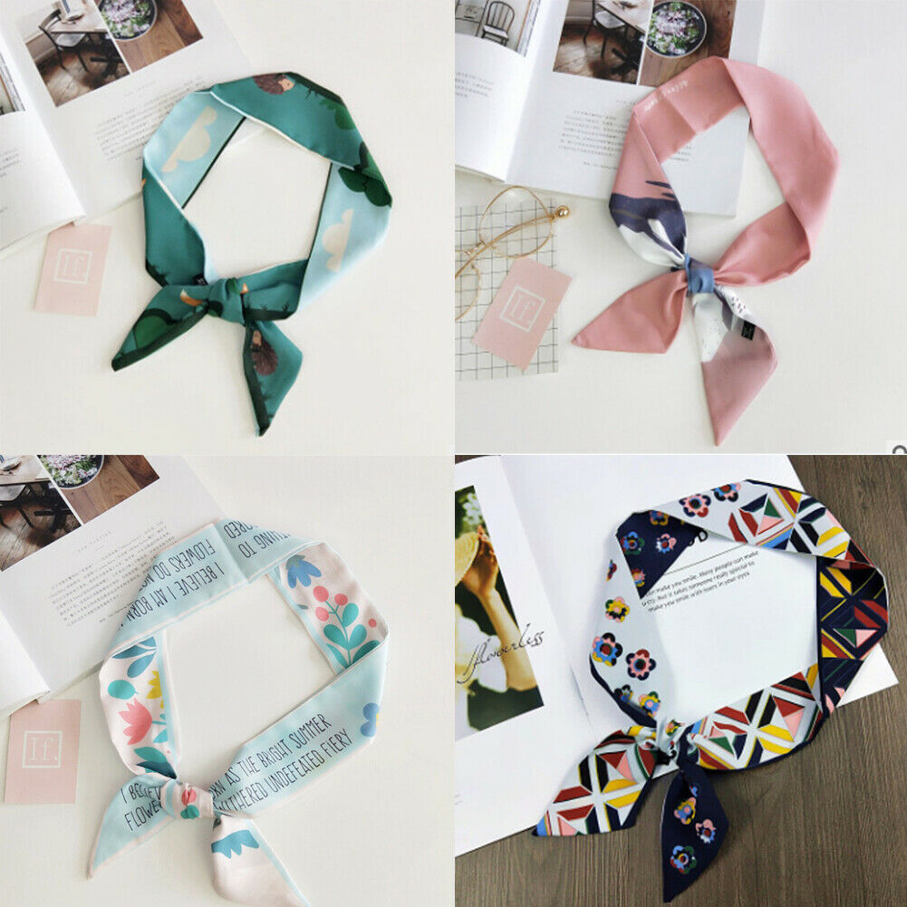 Hirigin Women Lady Fashion   Scarves   Twilly Ribbon Tied Bag Handle Decor Small   Scarf     Wraps