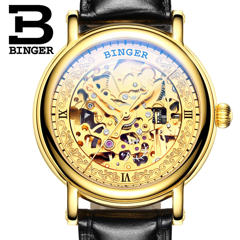 Switzerland BINGER Mens Watches Luxury Brand Automatic Mechanical Men Watch Sapphire Male Japan Movement reloj hombre B1107-2 sollen mens automatic mechanical watch diamond gold full steel sapphire waterproof luminous male luxury top brand watches reloj