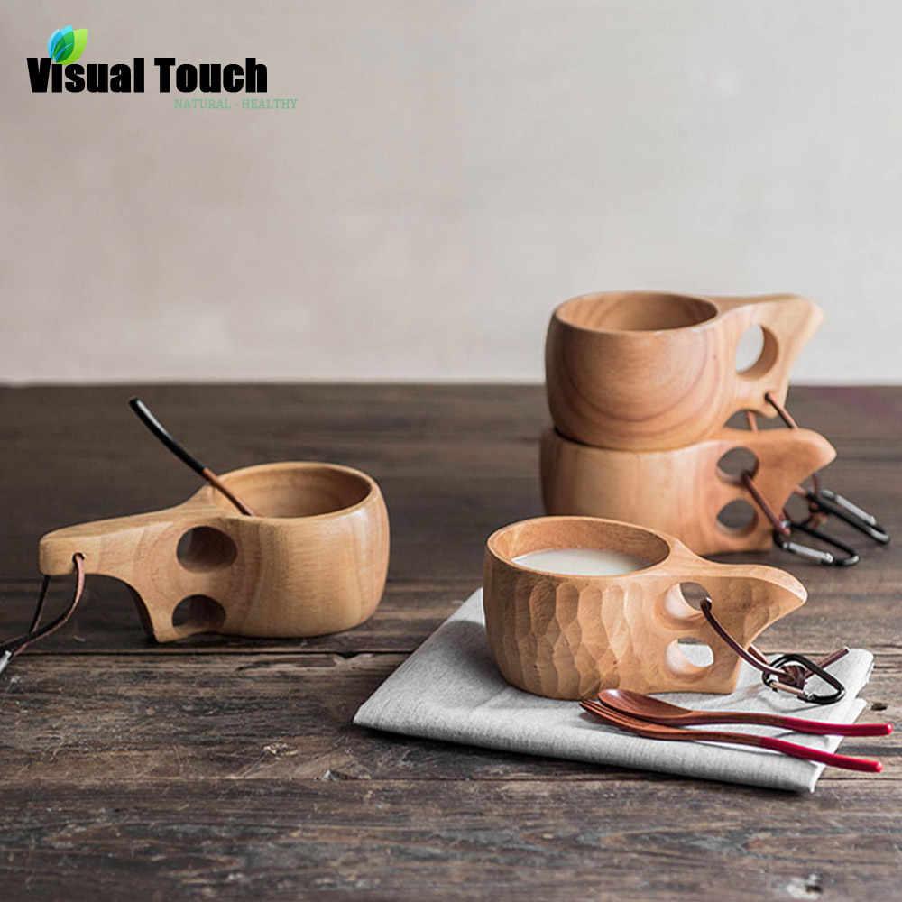 Visual Touch Portable Tortoiseshell Outdoor Finland Kuksa Wood Mug