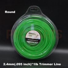 2.4mm 0.095″ X 1LB Round Grass Green Color Brush Cutter Grass Trimmer Nylon Line Wire