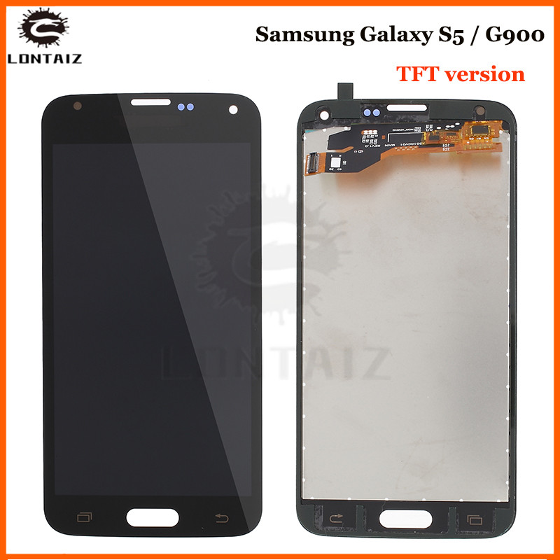 Brightness Adjustbale G900F LCD For Samsung <font><b>Galaxy</b></font> <font><b>S5</b></font> I9600 <font><b>SM</b></font>-<font><b>G900</b></font> LCD G900F G900M <font><b>Display</b></font> Touch Screen G900A G900T G900P <font><b>G900</b></font> image