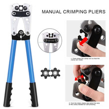 Newly Wire Crimper Cable Crimp Electric Tube Crimping Hand Tool Battery Lug DAG-ship