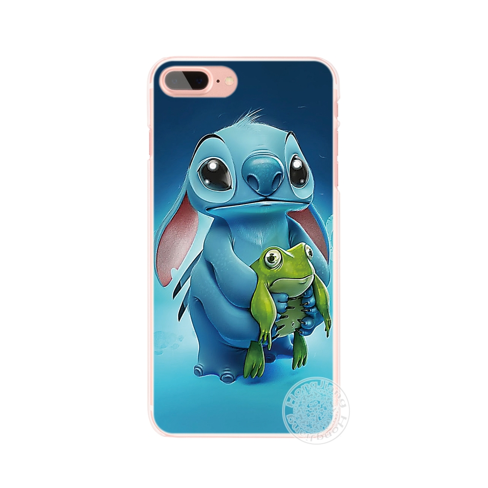 HAMEINUO Lilo and Stitch Quote Ohana Means Family cell phone Cover case for iphone 4 4s 5 5s SE 5c 6 6s 7 8 X plus