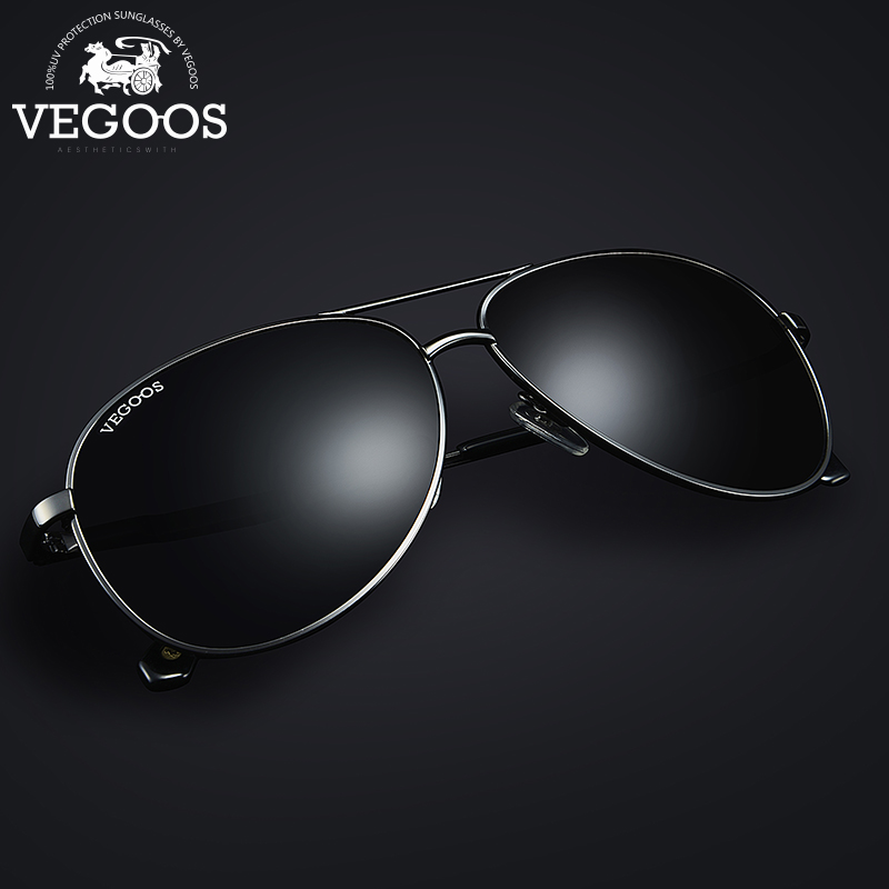 VEGOOS New Fashion Pilot Polarized Men Sunglasses Man Pilots Aviation Brand Designer Fashion Sun Glasses Aviation