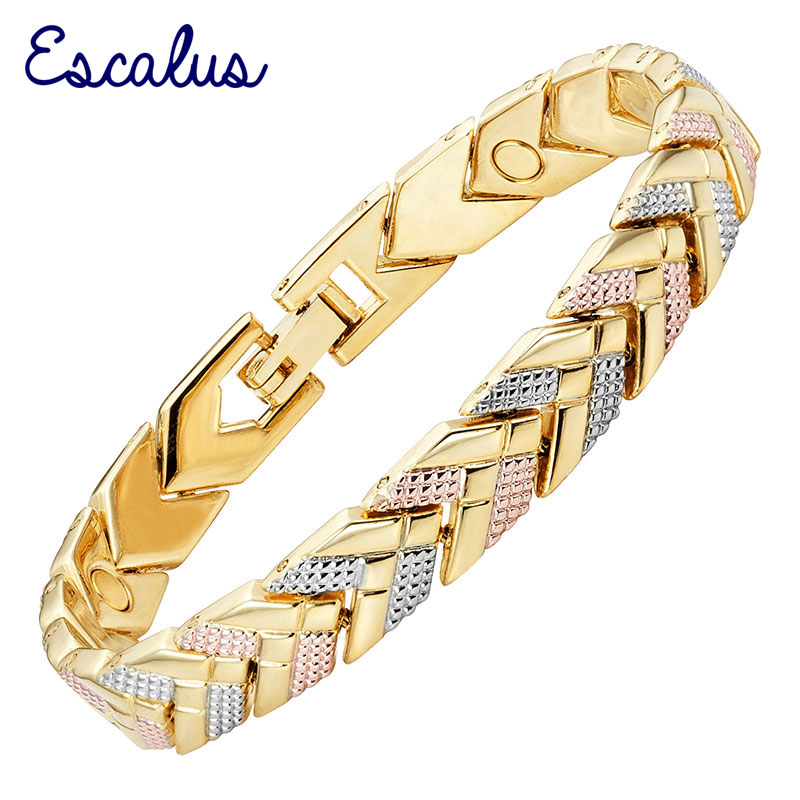 Channah 2017 Women 3-Tone Silver Rose Gold Gold Bracelet Magnetic Arrow Bangle Ladies Jewelry Gift Free Shipping Charm
