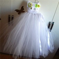 QYFLYXUESuperhero Children Girl Tutu Dress Photo Props Kids Fancy Tutu Dress White Dress Skirt Children Dress