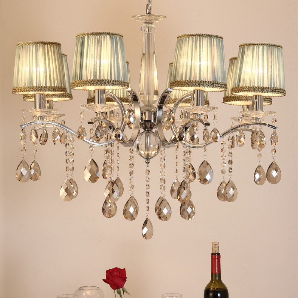 Crystal Chandelier K9 Crystal LeD Home Lighting Dining Room Chandeliers 110-220v Chandeliers for The Living Room Luminaria led industrial vintage lighting iron light 110 220v home lighting living room hanging e27 fixture porch chandeliers luminaria