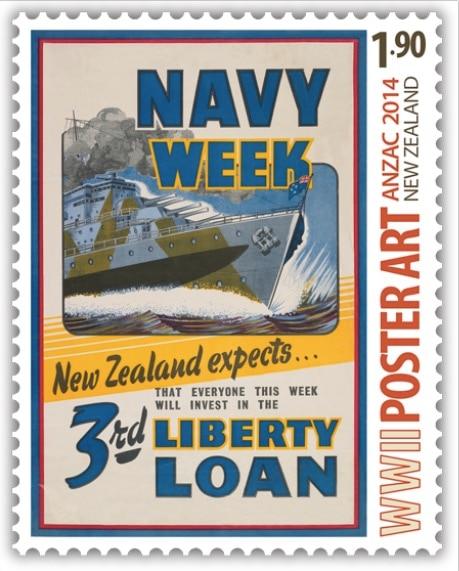 Values Of Patriotism Loyalty Stamps New Zealand NZ Vintage